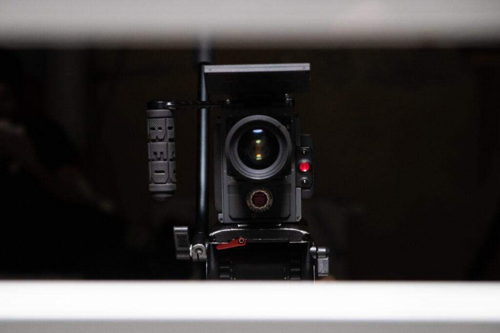 RED kamera v akci při natáčení promo videa