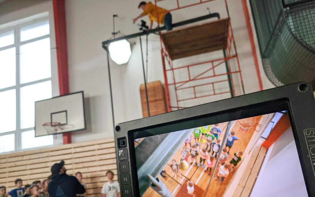Top view - natáčení promo videa