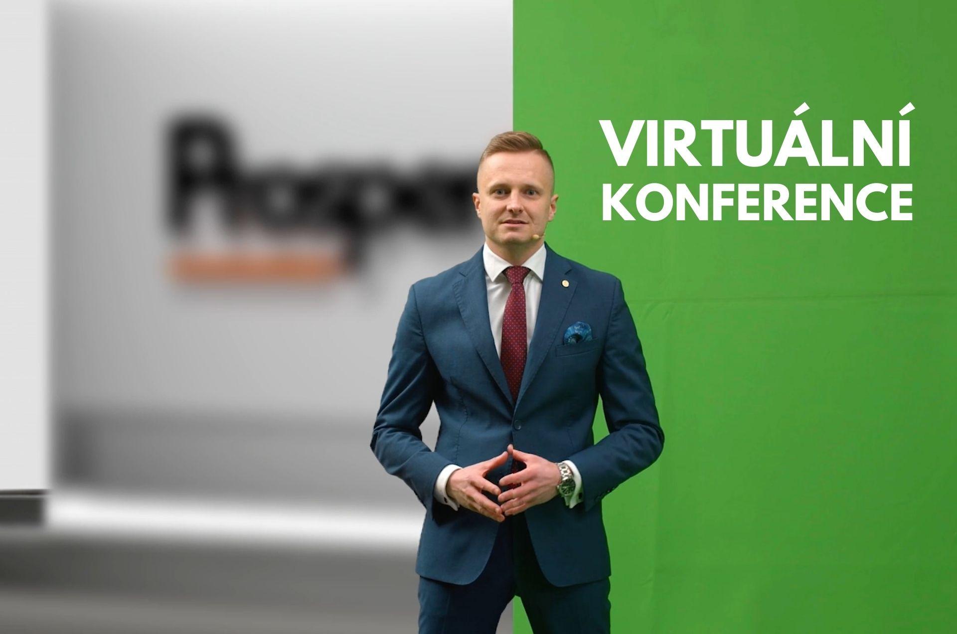Virtuální konference - zelené pozadí