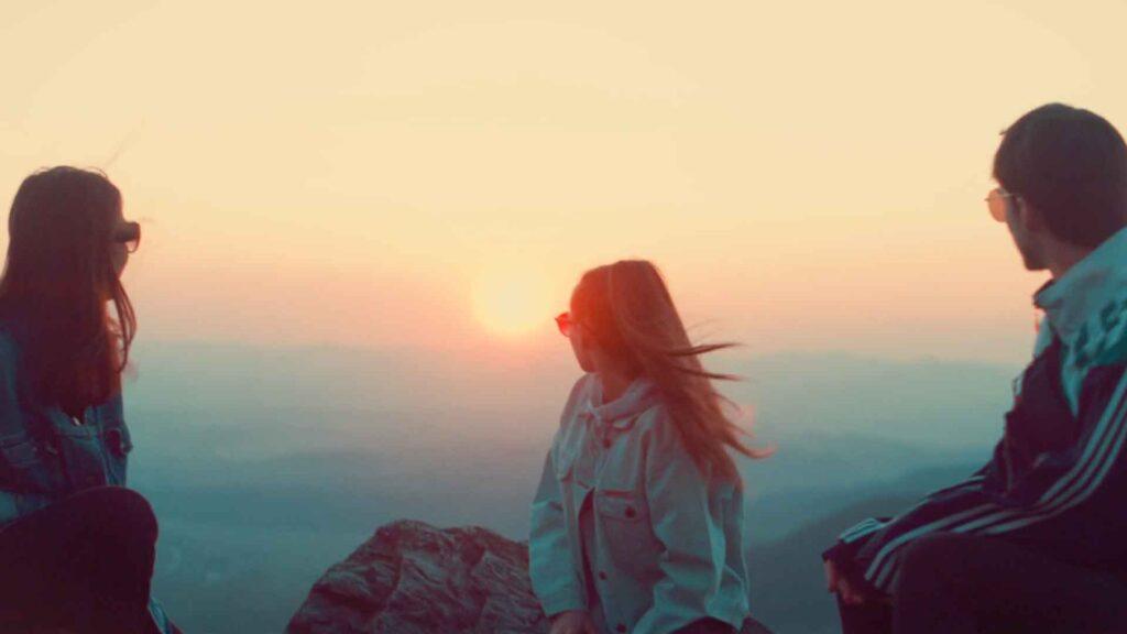 Západ slunce nad Libercem